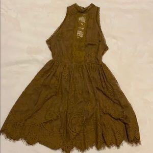 Free People lace mini dress